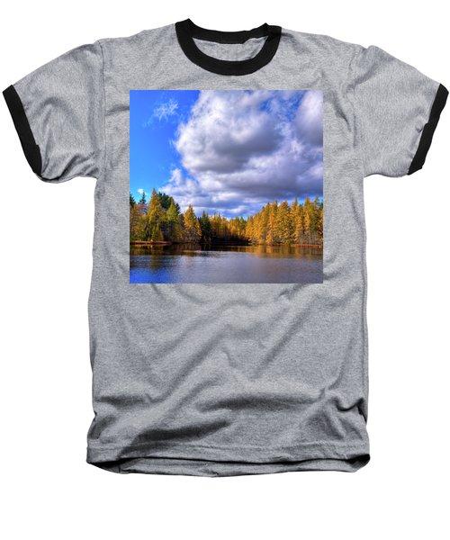 Baseball T-Shirt featuring the photograph Tamaracks At Woodcraft Camp by David Patterson