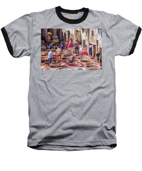 Tannery In Fez Baseball T-Shirt by Patricia Hofmeester