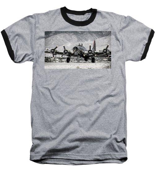 B-17 Bomber Madras Maiden  Baseball T-Shirt