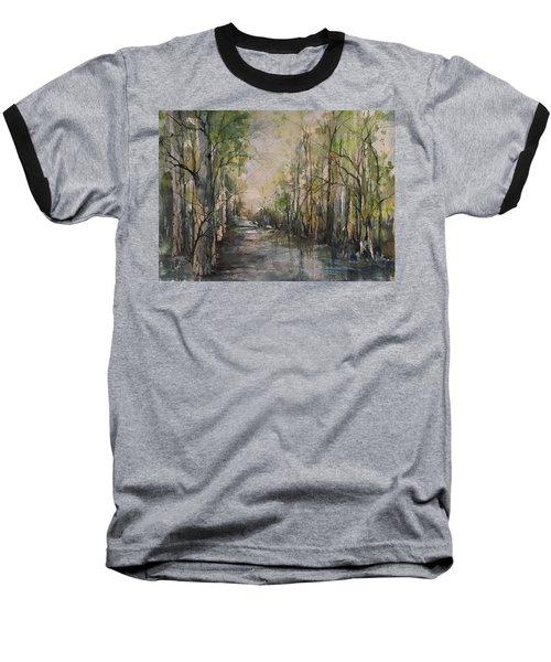 Bayou Liberty Baseball T-Shirt by Robin Miller-Bookhout