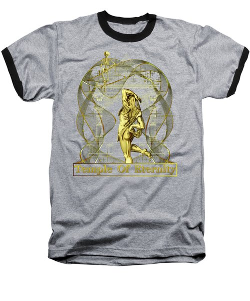 Baseball T-Shirt featuring the digital art Temple Of Eternity by Robert G Kernodle