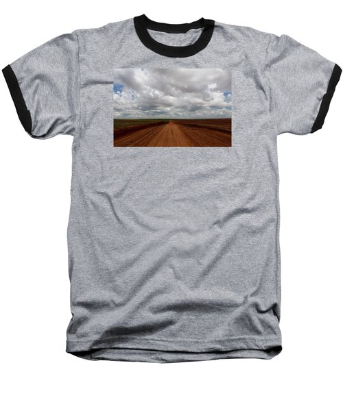 Texas Red Road Baseball T-Shirt by Suzanne Lorenz