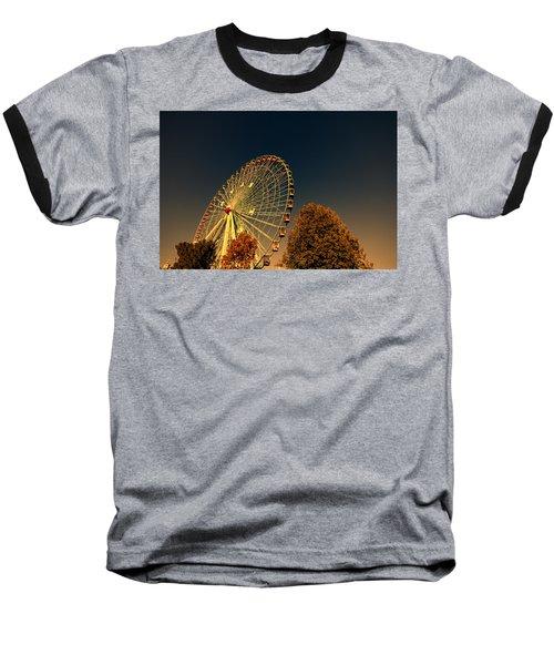 Texas Star Ferris Wheel Baseball T-Shirt