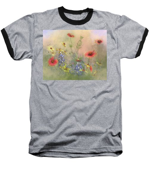 Texas Wildflowers Baseball T-Shirt