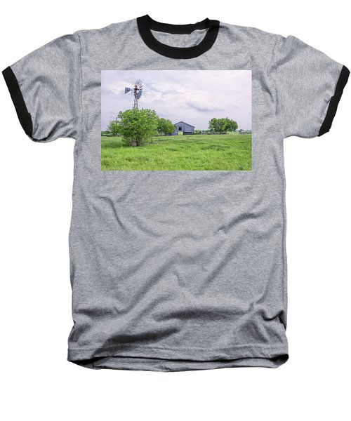 Texas Windmill Baseball T-Shirt