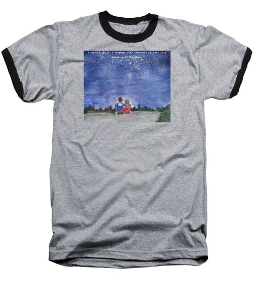 Baseball T-Shirt featuring the painting Thank You Love by Geeta Biswas