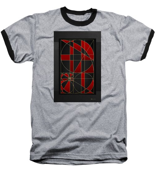 The Alchemy - Divine Proportions - Red On Black Baseball T-Shirt