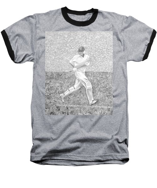Baseball T-Shirt featuring the mixed media The Batsman by Elizabeth Lock
