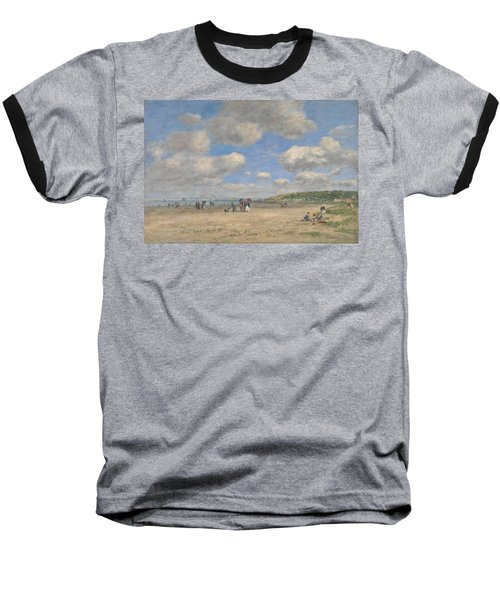 The Beach At Tourgeville Les Sablons Baseball T-Shirt