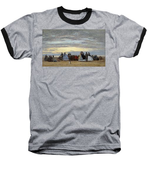 The Beach At Villerville Baseball T-Shirt