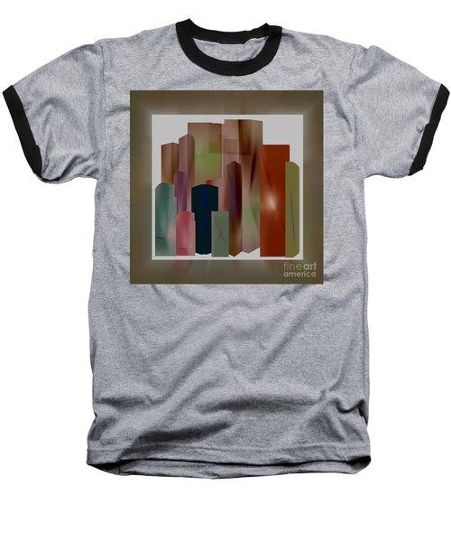 Baseball T-Shirt featuring the digital art The Block by John Krakora