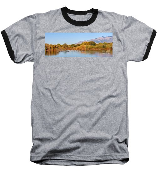 Baseball T-Shirt featuring the photograph The Bosque by Gina Savage