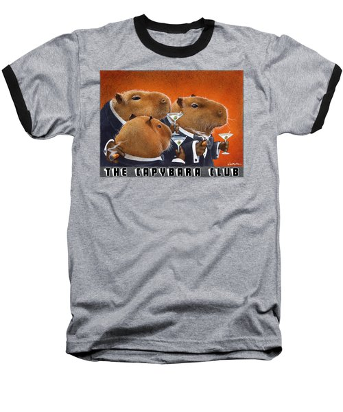 The Capybara Club Baseball T-Shirt by Will Bullas