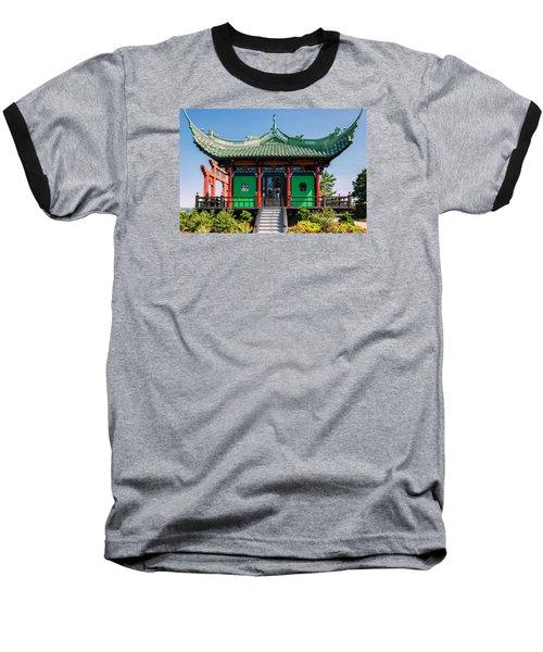 The Chinese Tea House Baseball T-Shirt by Sabine Edrissi