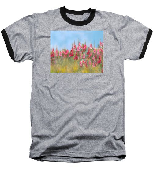 The Earth Laughs In Flowers Baseball T-Shirt by Colleen Taylor