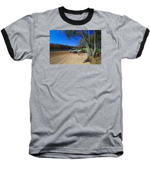 Baseball T-Shirt featuring the photograph The End Of Summer by Judy  Johnson