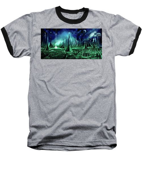 Baseball T-Shirt featuring the painting The Enneanoveum by James Christopher Hill
