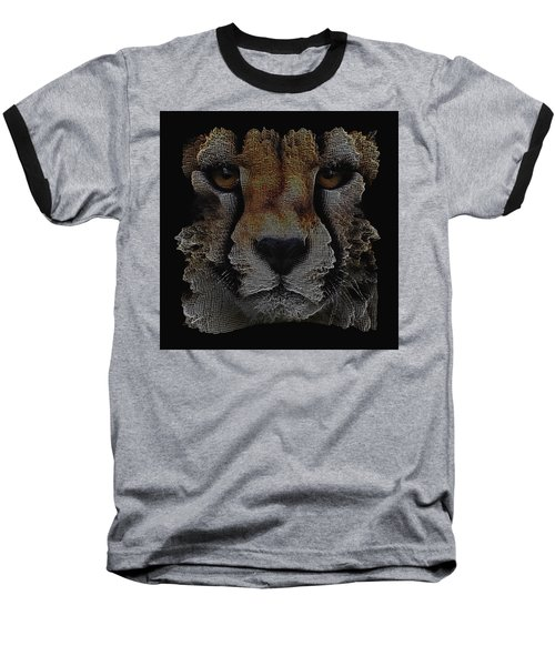 The Face Of A Cheetah Baseball T-Shirt by ISAW Gallery