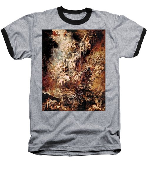 Baseball T-Shirt featuring the painting The Fall Of The Damned by Peter Paul Rubens