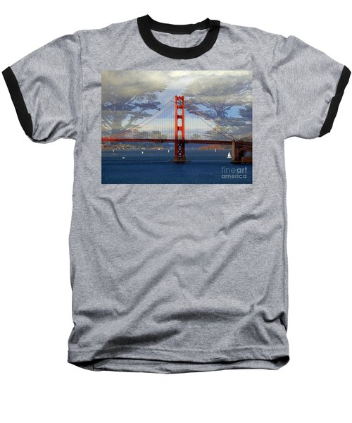 The Golden Gate Bridge  Baseball T-Shirt by Scott Cameron