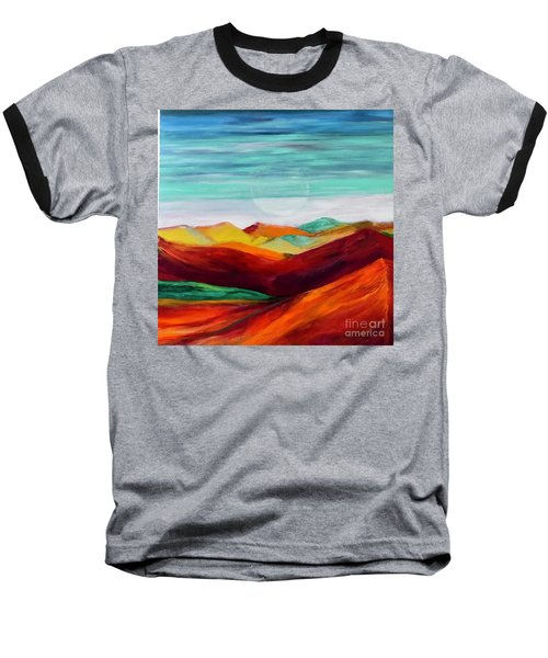 Baseball T-Shirt featuring the painting The Hills Are Alive by Kim Nelson