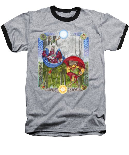 The Holly King And The Oak King Baseball T-Shirt