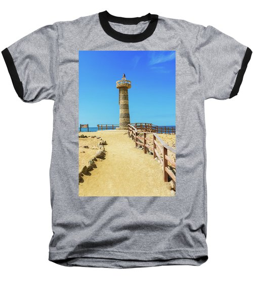 The Lighthouse In Salinas, Ecuador Baseball T-Shirt