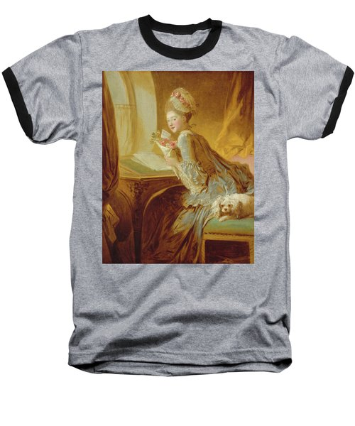 Baseball T-Shirt featuring the painting The Love Letter by Jean Honore Fragonard