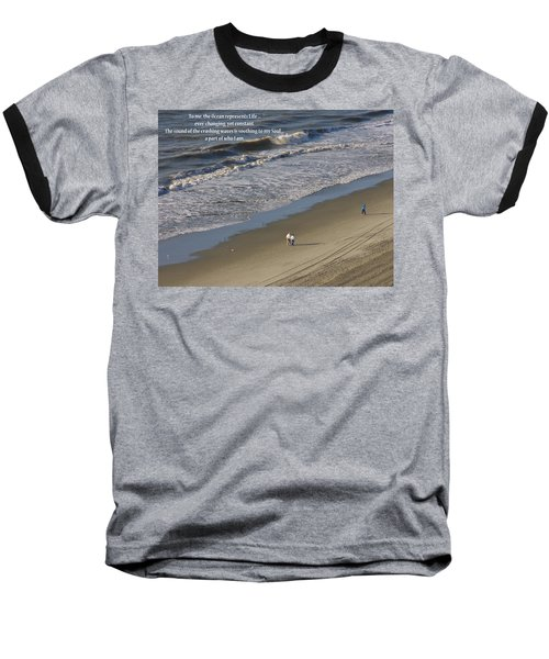 The Ocean Baseball T-Shirt by Rhonda McDougall