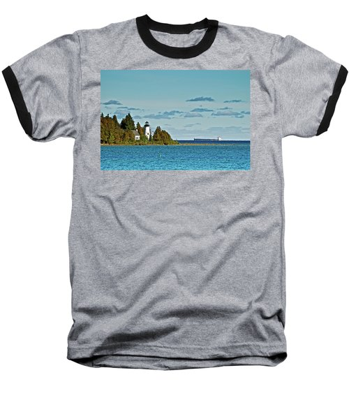 The Old Presque Isle Lighthouse Baseball T-Shirt
