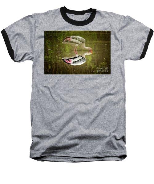 The Painted Stork  Mycteria Leucocephala  Baseball T-Shirt