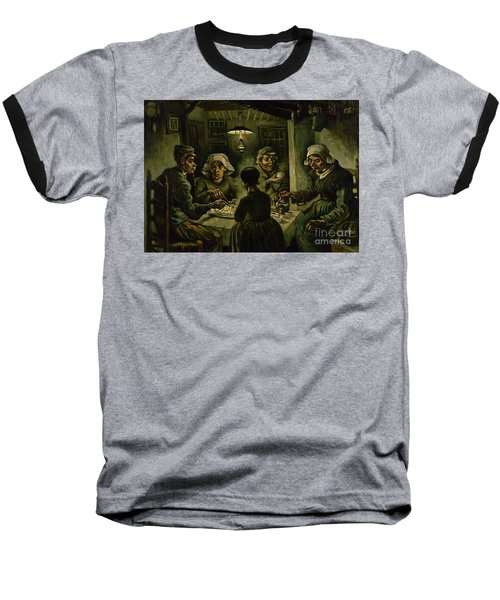 The Potato Eaters, 1885 Baseball T-Shirt by Vincent Van Gogh