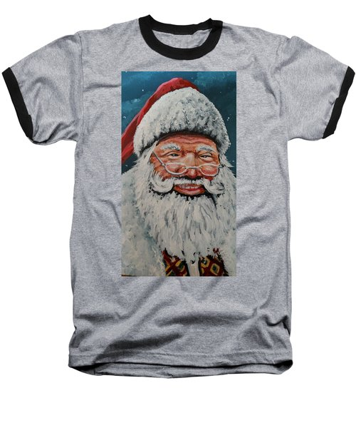 The Real Santa Baseball T-Shirt by James Guentner