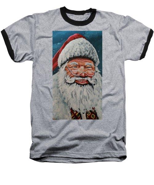 The Real Santa Baseball T-Shirt
