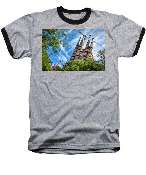The Sagrada Familia Baseball T-Shirt