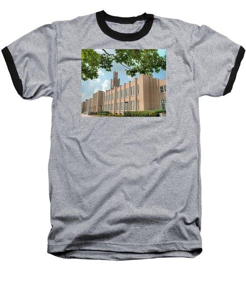 The School On The Hill Baseball T-Shirt by Mark Dodd