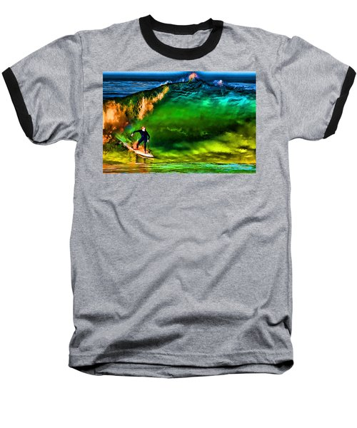 Baseball T-Shirt featuring the photograph The Shadow Within by John A Rodriguez