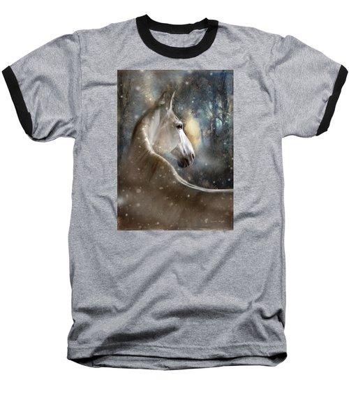Baseball T-Shirt featuring the digital art The Spirit Of Winter by Dorota Kudyba