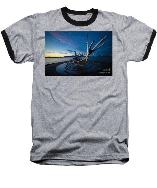 The Sun Voyager  Baseball T-Shirt by Mariusz Czajkowski