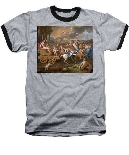 The Triumph Of Bacchus Baseball T-Shirt by Nicolas Poussin