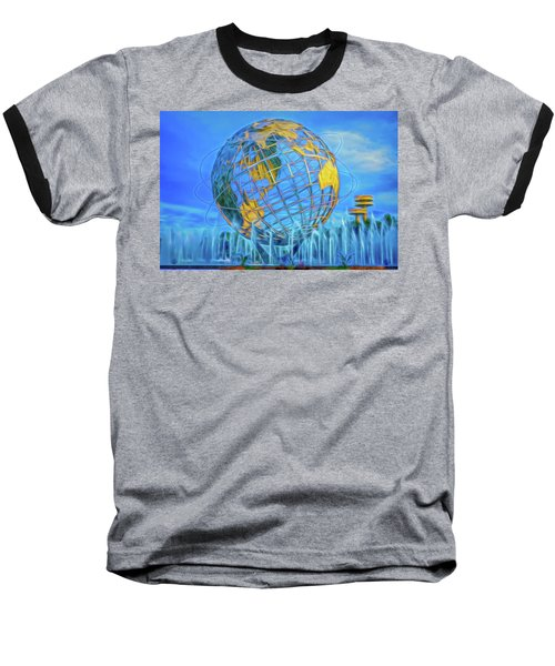 Baseball T-Shirt featuring the photograph The Unisphere by Theodore Jones