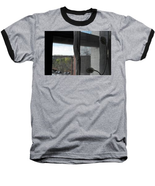 The View From The Window Baseball T-Shirt