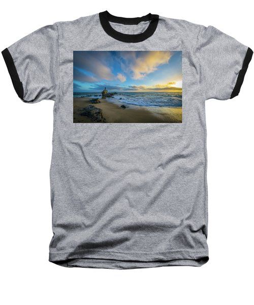 Baseball T-Shirt featuring the photograph The Woman And Sea by Sean Foster