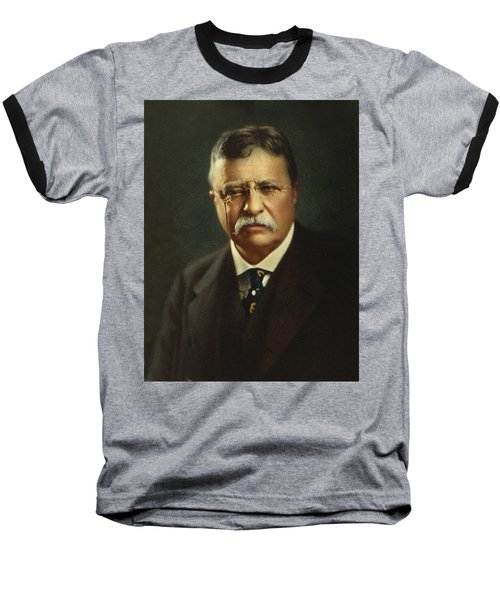 Theodore Roosevelt - President Of The United States Baseball T-Shirt by International  Images