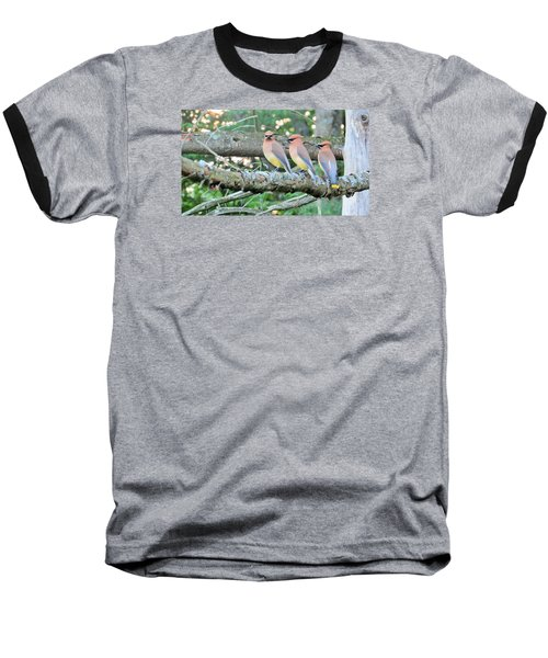 Baseball T-Shirt featuring the photograph Three In A Row by Jeanette Oberholtzer