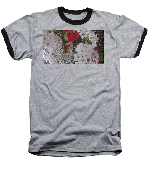 Thubaki Means Camellia Baseball T-Shirt