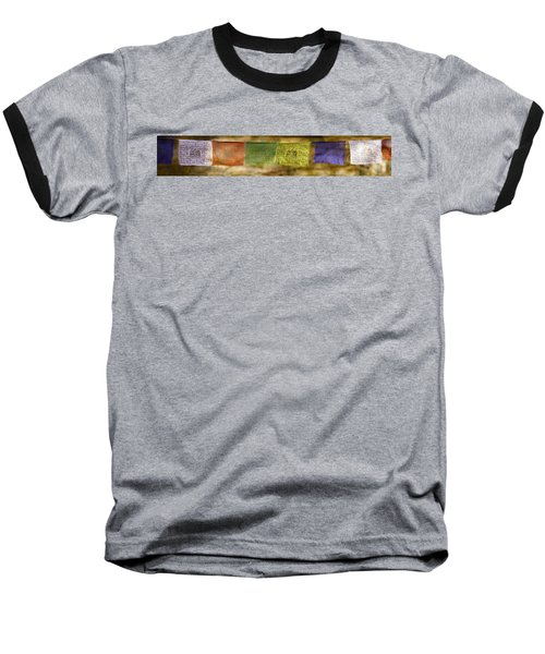 Tibetan Prayer Flags Baseball T-Shirt