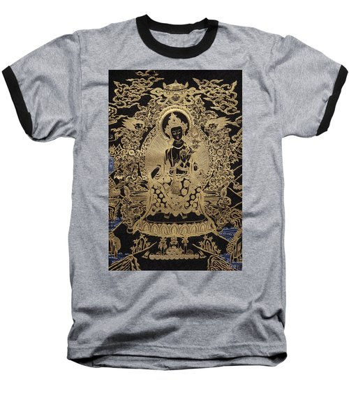 Tibetan Thangka  - Maitreya Buddha Baseball T-Shirt