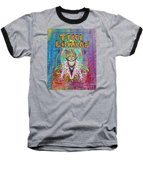 Tiki Lounge  Baseball T-Shirt by Alan Johnson