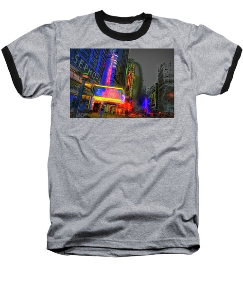 Baseball T-Shirt featuring the photograph Times Square by Theodore Jones